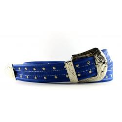 Cintura Indianina 4cm Blu Line