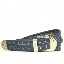 Cintura Indianina 4cm Blu