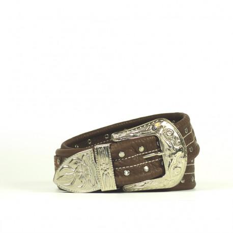 Cintura Indianina 4cm Marrone