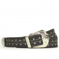 Cintura Indianina 4cm Marrón Oscuro