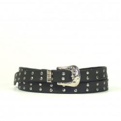 Cintura Indianina 2cm Gris Oscuro (doble vuelta)