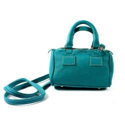 Turquoise Leather Bauletto