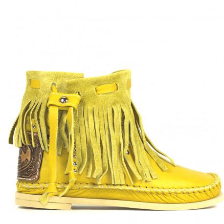 Yellow Tronchetto Frange