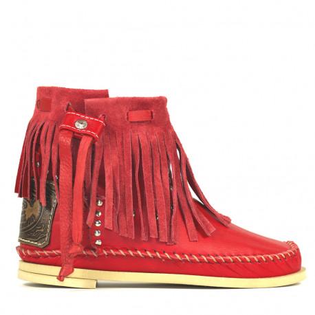 Red Tronchetto Frange