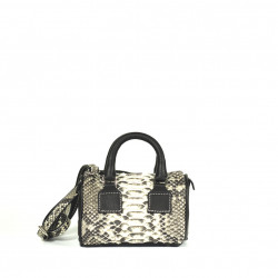 Python and Black Leather Bauletto