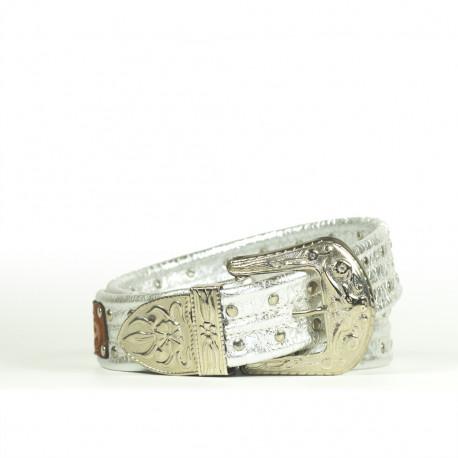 Cintura Indianina 4 cm Argento