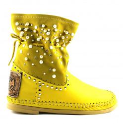 Yellow Tronchetto Scamosciato